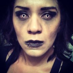 Here's another pic of the same possessed look. White Demon lenses from SpookyEyes