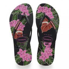 Sandália Havaianas Slim 4129848-0090 - Preto - Calçados Online Sandálias, Sapatos e Botas Femininas | Katy.com.br