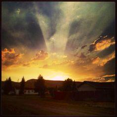 Sunset Dubois Wyoming