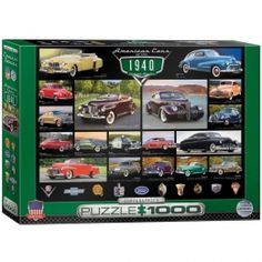American Cars of the 1940's Jigsaw Puzzle - PZ-015P- American Classic Car, Classic Cars, American Classic Car Memorabilia, Classic Car Memorabilia.