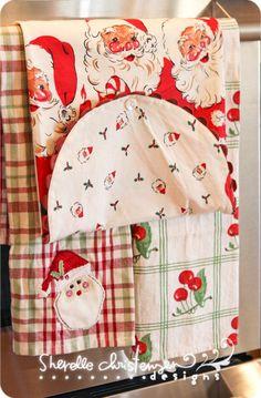 Sweet vintage Christmas linens