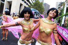 Cleopatra & Antonella ... Sydney Mardi Gras Parade photos ...
