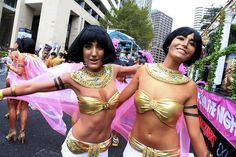 Cleopatra & Antonella ... Sydney Mardi Gras 2013 Parade photos ... Make up done by TMT