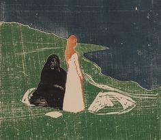 Edvard Munch // Zwei Frauen am Meeresufer // Two Women on the Shore // 1898/1906-1914 // Privatsammlung Courtesy Galleri K, Oslo
