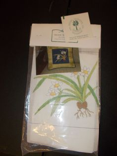 Vintage Village Needlecraft Needlepoint Kit NARCISSUS flowers #VillageNeedlecraft