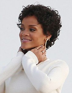 Lots of celebrities these days sport short curly hair styles, but some of them really stand out. When we think of curly short hair, the image of AnnaLynne Curly Pixie Haircuts, Short Curly Pixie, Short Curls, Curly Hair Cuts, Short Hair Cuts, Curly Hair Styles, Natural Hair Styles, Short Natural Curly Hair, Pixie Crop