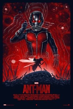 'Ant-Man' by Marko Manev, a new officially licensed Marvel print release from Grey Matter Art. Mcu Marvel, Marvel Heroes, Marvel Characters, Marvel Movies, Cult Movies, Action Movies, Superhero Poster, Fanart, Alternative Movie Posters