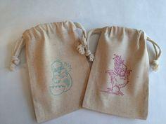 Holy cross favor bag reusable cross drawstring muslin bags easter treat bag easter chicks drawstring easter favor bags easter chick gift bag negle Choice Image