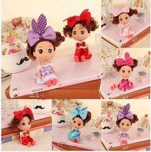 2 unids venta Caliente Decoración de La Boda Mini Suave Muñeca de Juguete para Niños Juguetes Para Niñas niños Regalos envío gratis(China (Mainland))