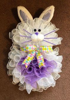 24 x 16 Spring Easter Deco Mesh Bunny Rabbit