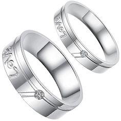 """Aroncent 1 Paar Herren Damen Ringe, Edelstahl """"Love"""" Freu... https://www.amazon.de/dp/B01EZI1POW/ref=cm_sw_r_pi_dp_edpvxbHPMT2NZ"""