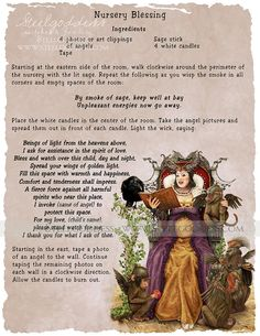 Nursery Blessing Magic Spell Book of Shadows by steelgoddess Wiccan Witch, Magick Spells, Witchcraft, Wiccan Magic, Magic Spell Book, Spell Books, Zen, Wiccan Crafts, Candle Magic