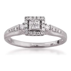 Riddle's Jewelry :: Details for White Gold Diamond Promise Ring (#11918741)