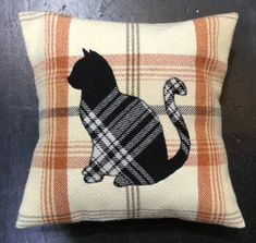 Etsy Handmade, Handmade Gifts, Scottish Gifts, Cat Silhouette, Board Ideas, Xmas Gifts, Pillow Design, Decorative Throw Pillows, Rustic Decor