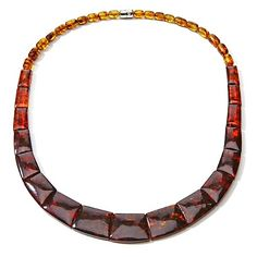 "Jay King Amber Ombré Collar-Style 18"" Necklace"