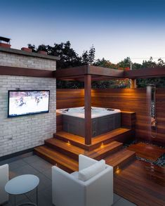 Backyard Patio with Hot Tub . Backyard Patio with Hot Tub . Outdoor Jacuzzi Ideas Designs Pros and Cons [a Plete Hot Tub Gazebo, Hot Tub Backyard, Hot Tub Garden, Backyard Patio, Jacuzzi Outdoor Hot Tubs, Backyard Landscaping, Hot Tub Privacy, Patio Privacy, Modern Hot Tubs