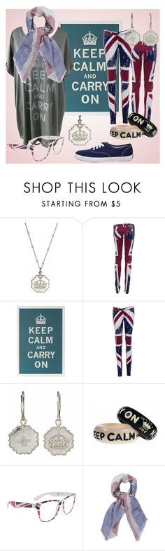 """""""Keep Calm and Carry On"""" by princesschandler ❤ liked on Polyvore featuring Sophia & Chloe, Religion Clothing, Keds, Jessica Kagan Cushman, Rayflector and French Connection"""