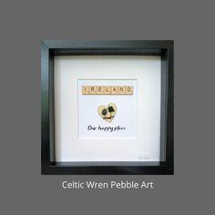 Ireland, our happy place. Irish Sea, Wren, Box Frames, Pebble Art, Celtic, Ireland, My Etsy Shop, Places, Happy