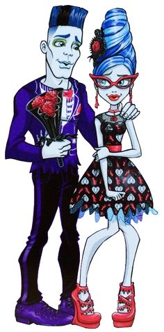 Slow-Moe and Ghoulia Yelps. Love's Not Dead. Profile art