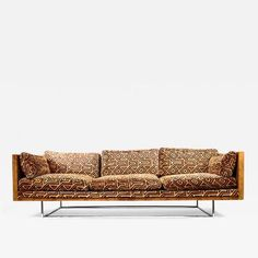 Milo Baughman - Milo Baughman Burl Wood & Chrome Sofa offered by Dallas Moderne on InCollect Free To Use Images, Milo Baughman, Fabric Rug, Sofa, Couch, High Quality Images, Upholstery, Chrome, Tapestry