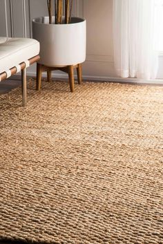 nuLOOM - Nuloom Hand Woven Hailey Jute Natural 165233 Area Rug #165233 5x8 $191