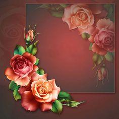 """Barnali Bagchi ~ """"Spring Roses"""" ~ moonbeam1212."""