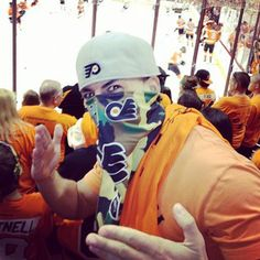 Jesee at the Flyers game! He is so pumped! #Ninjaing