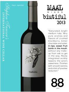 #MAAL biutiful 2013 - 88 points - Stephen Tanzer's International #Wine Cellar