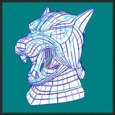 Game of Thrones - Sandor Clegane's Dog Helmet Papercraft Free Template Download - http://www.papercraftsquare.com/game-thrones-sandor-cleganes-dog-helmet-papercraft-free-template-download.html