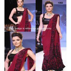 Buy Kristina Akheeva Bollywood Replica Saree - Dealtz.com
