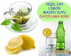 yeşil çay limon maden suyu