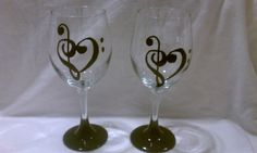 Music Lovers 20oz Hand Painted Wine Glass by MyPaintedTreasures