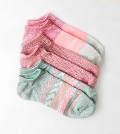 AEO Bright Printed Shortie Sock 3-Pack