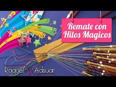 Aprendiendo a rematar con hilos mágicos. Bolillotutorial Raquel M. Adsuar - YouTube