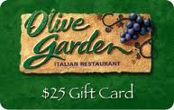 $25 Olive Garden Gift Card Giveaway! Ends 1/28