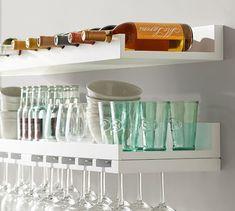 Holman Entertaining Shelf, Wineglass, Black | Pottery Barn
