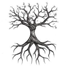 Tree Drawings something like this on the outer calf of my left leg, with the