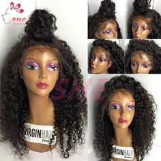 7A Glueless Full Lace Human Hair Wigs For Black Women 130% Density Brazilian Virgin Hair Kinky Curly Lace Front Human Hair Wigs Online with $77.07/Piece on Sheladyhouse's Store | DHgate.com
