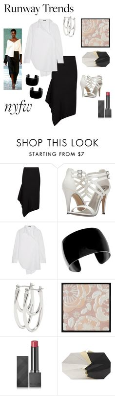 """Asymmetric runway trend"" by janew455 ❤ liked on Polyvore featuring AllSaints, Michael Antonio, Ann Demeulemeester, Hellessy, M&Co, Burberry and Jill Haber"
