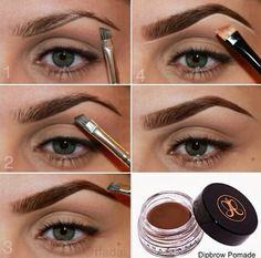 Eye makeup can complement your attractiveness and make you look and feel fabulous. Learn the way to use make-up so that you can show off your eyes and make an impression. Discover the most effective ideas for applying make-up to your eyes. Beauty Make-up, Beauty Hacks, Hair Beauty, Beauty Tips, Beauty Zone, Anastasia Dipbrow Pomade, Anastasia Brow, Eyebrow Tinting, Makeup Ideas