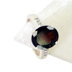 Riyo Angelic Garnet 925 Solid Sterling Silver Red Ring Srgar7-26160
