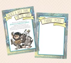 Where the Wild Things Are Inspired Invitation and Thank You Note  Design - Baby Shower, Wedding Shower or Birthday!
