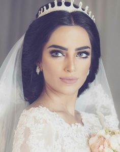 Best day ever Bridal Looks, Bridal Make Up, Wedding Make Up, Wedding Hair And Makeup, Wedding Beauty, Bridal Hair, Arab Wedding, Wedding Bride, Luxury Wedding
