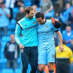 Petr Cech and Frank Lampard after the game... #CFC #Chelsea #PremierLeague