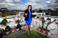 Lucy Verasamy Photos Photos - Weather presenter Lucy Verasamy is seen at the Grange Hotel Rooftop Terrace in London to launch Amazon's #NowItsSummer store on April 25, 2017 in London, England. - Amazon Launches New Summer Store #NowItssummer
