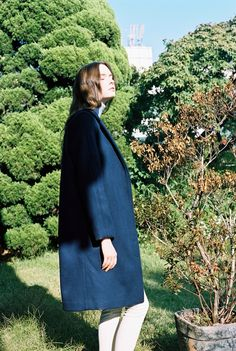 ihavenoidea.co.kr woman fashion navy coat