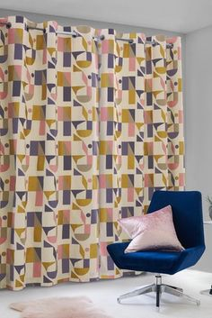 Buy Irregular Geo Eyelet Curtains from the Next UK online shop Spare Room Office, Next Uk, Uk Online, Geo, Curtains, Board, Stuff To Buy, Shopping, Home