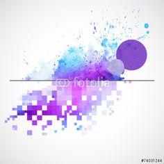 Vektor: Modern vector background with watercolor blot