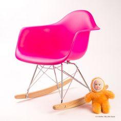 Chaise à bascule enfant rocking chair rose