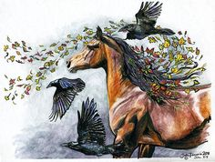 "#horses, #crows, #spirit, Wind by Shaila Yovan Tenorio   ""The wind blows where it wishes, and you hear the sound of it, but cannot tell where it comes from and where it goes. So is everyone who is born of the Spirit."" John 3:8"